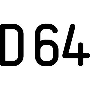 D64 Netzwerk zweifarbig
