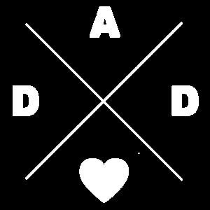 Dad Papaliebe Vatertag Herz Geschenkidee Style