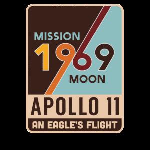 Apollo 11 Retro Mondlandung Geschenk