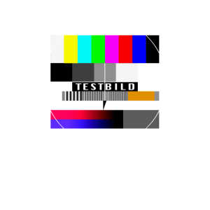Fernseher Testbild 90er Party 80er Jahre Retro 90s