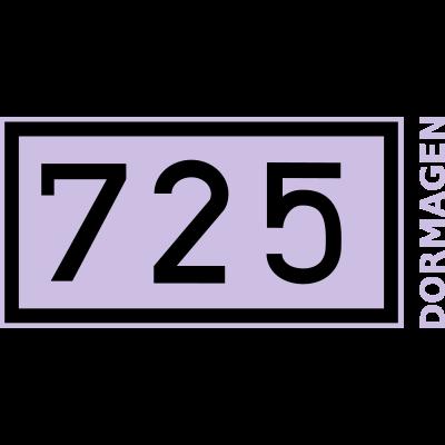 Rheinkilometer 725 bei Dormagen - das Original Rheinkilometer-Motiv 725 bei dormagen - geschenk,Rhein,Dormagen