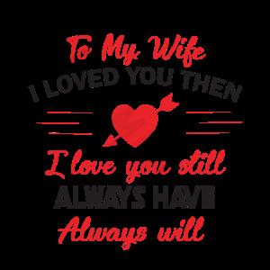 Liebeserklärung für die Ehefrau - Geschenk
