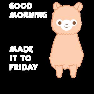 Lama - Lama T-Shirt - Guten Morgen - Freitag