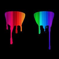Rainbow - Spectrum (Pride) / Hipster Nerd Glasses