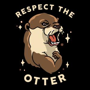 Respektieren Sie den Otter - lustiges Eignungs-Tier