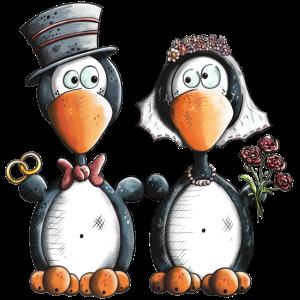 Pinguin Hochzeit