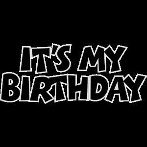 It's my Birthday Geburtstag Design Outline