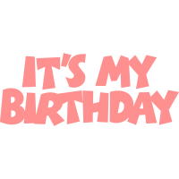 It's my Birthday Geburtstag Design (Pink)