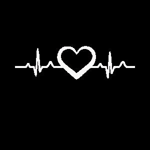 Lifeline Heart Herzschlag Lebenslinie weiß