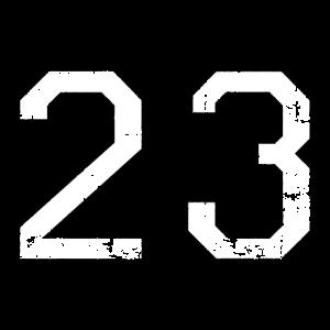 Zahl 23 Nummer Dreiundzwanzig 23. Geburtstag