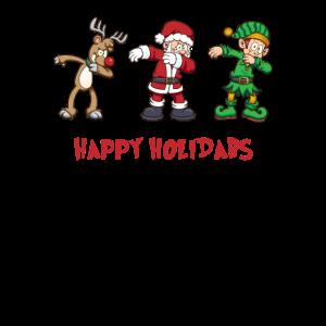 Betupfen Rentier Santa Elf Weihnachten Holidabs