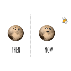 pluto now and then