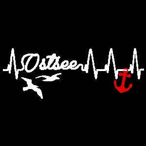 Ostsee Liebe Herzschlag Heartbeat Anker