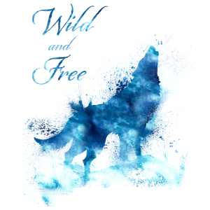 Wild and Free Wolf Watercolor Silhouette