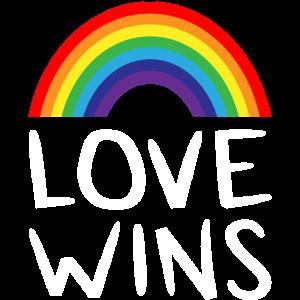 CSD Shirt Gay Pride Love Wins Rainbow Shirt