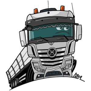 0807 M truck wit trailer