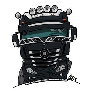 0807 M truck zwart