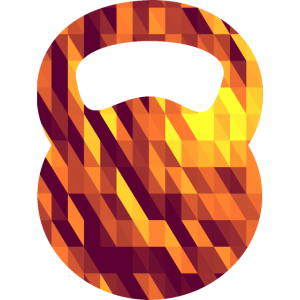 Kettlebell (Geometric Background)