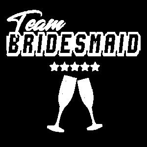 Team bridesmaid! Cooles Design für Brautjungfern