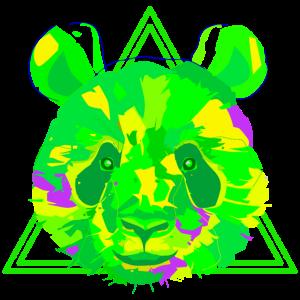 Neon Panda Grün Gelb