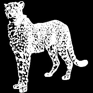 Gepard weiß