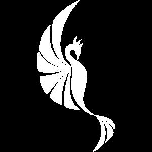Phoenix Stylized Wings Logo Weiß