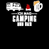 Ich mag Camping und Bier