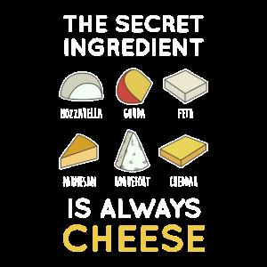 Geheime Zutat Käse. Kochen. Essen.