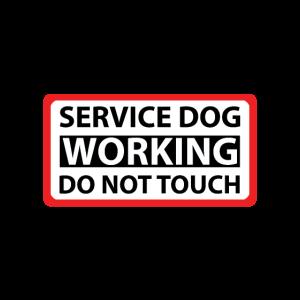 Dog Service Working Bitte nicht anfassen