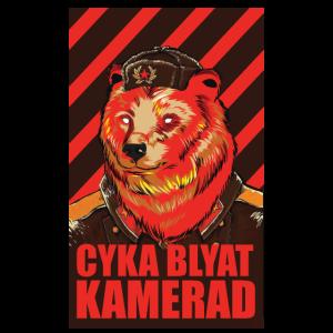 Cyka Blyat Tshirt Comrade Soviet Bear