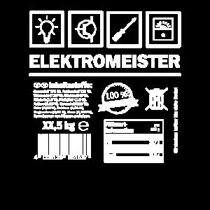 Elektro Meister - Piktogramm - Symbol Geschenk