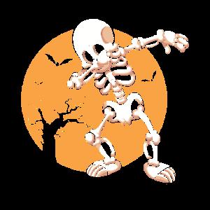 Halloween Skelett Fledermäuse