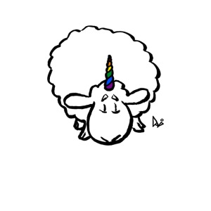 Ewenicorn - it's a rainbow unicorn sheep!