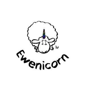 Ewenicorn - es ist ein Regenbogen-Einhornschaf! (Text)