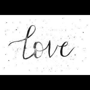 Love Aquarell - Handlettering