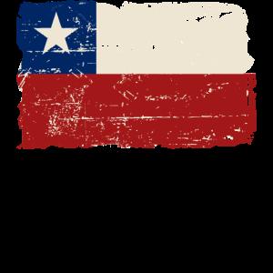 Chile Flag - Vintage Look