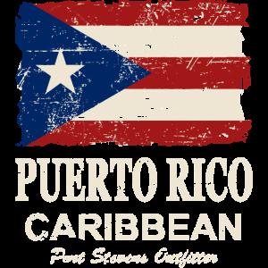 Puerto Rico Flag - Vintage Look