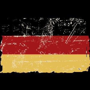 Germany Flag - Vintage Look