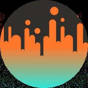 Farbverlauf Orange Cyan
