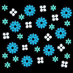 Schneeflocken-muster