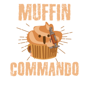 Lustiges Muffin Kommando Essen Süßigkeiten Design