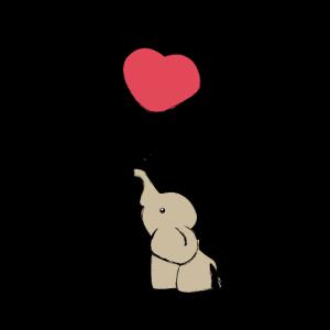 Süßer Elefant mit Ballon - Geschenkidee - Geschenk