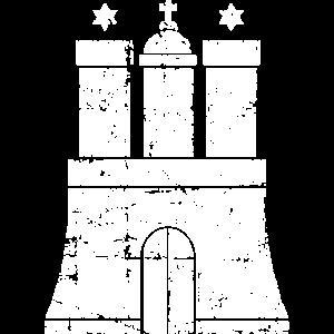 Hamburger Wappen (Vintage Weiß) Hamburg Design