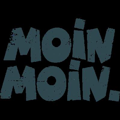 Moin Moin Vintage Dunkel Guten Morgen Gruß - Ein norddeutscher Gruß, der zwischen Flensburg und Ostfriesland oder in Hamburg sehr häufig, im Rest der Republik, z.B. in Berlin auch immer häufiger zu hören ist. - reeperbahn kiez,redensart,norddeutschland sprüche,niedersachsen spruch,hamburger dialekt,hamburg,guten morgen,Norddeutsch,Moin moin,Hamburger
