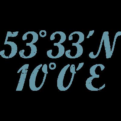 Hamburg Koordinaten Vintage Hell - Hamburg Design mit den Hamburger Koordinaten Längengrad und Breitengrad - Urlaub,Städte,Stadt Tourist,Segeln,Reise Reisen,Reeperbahn,Outdoor,Navigation,Längengrad,Koordinaten,Kietz,Hansestadt,Hamburgerin,Hamburger,Hamburg,Hafen,HH,Geocaching,Ferien,Elbe,Breitengrad,Alster,040