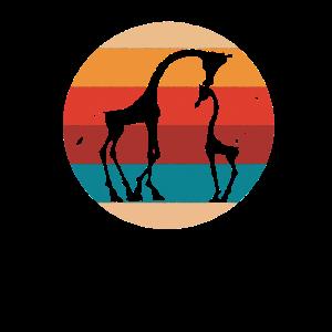 Vintages Giraffen-Liebhaber-Retro Art-Schattenbild-Geschenk