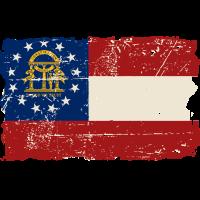 Georgia Flag - Vintage Look
