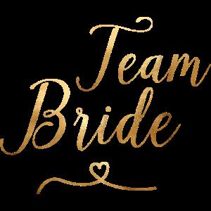 Team Bride - JGA - Hochzeit - Goldoptik