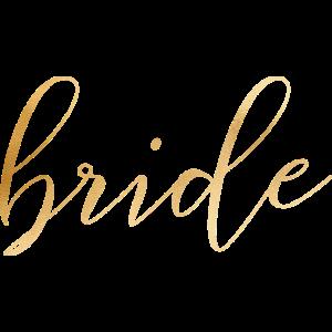bride - JGA - Braut - Hochzeit - Goldoptik