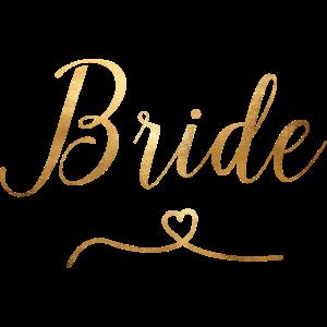 Braut - JGA - Hochzeit - Goldoptik